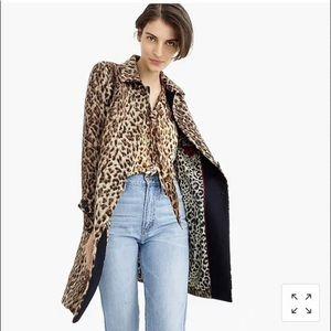 J. Crew Jackets & Coats - J. Crew topcoat in double leopard Size 8 NWT